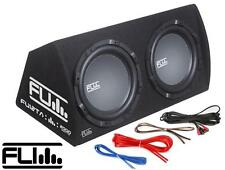 "Fli Underground FU12TA Car Double 12"" Amplified Subwoofer Box Enclosure 2000w"