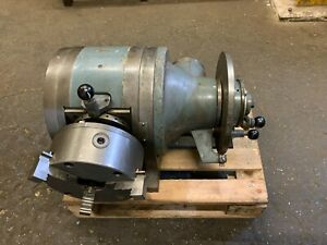 """200mm / 8"""" Hofmann Dividing Indexing Head with 8"""" Bison Chuck Int / Ext Jaws"""