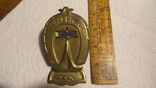 "Antique BRASS PAPER CLIP  Horseshoe Shape,SPENCERIAN, 4"""