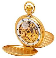 Woodford Gold Plated Swiss Made Mechanical Hunter Pocket Watch. ref 1014