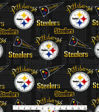 PITTSBURGH STEELERS COTTON FABRIC 1/4 YD 9