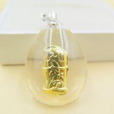 NEW Pure 999 Gold Slub Man-made Crystal Pendant