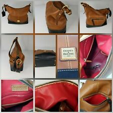 Dooney & Bourke Handbags Large Tote Leather. Tan Leather & Red Fabric Interior