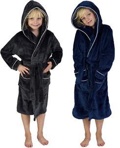 CityComfort Fleece Dressing Gown Kids Towelling Robe Plush Super Soft Boys Girls