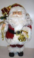 40cm De pie Tradicional Papá noel Figura Decoración Navidad Figurita Bell/Saco