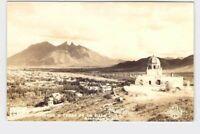 RPPC REAL PHOTO POSTCARD FOREIGN MEXICO NUEVO LEÓN MONTERREY OBISPADO Y CERRO DE