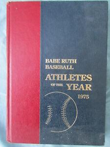 VINTAGE HARDBACK BOOK - BABE RUTH BASEBALL - ATHLETES OF THE YEAR 1975