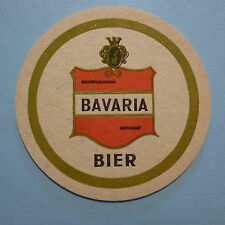 Vintage Beer COASTER ~<>~ Bierbrouwerij BAVARIA BIER ~ Lieshout, The NETHERLANDS