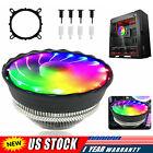 CPU Cooler Fan Heatsink RGB LED For Intel LGA1156/1155/1151/1150 /775 AMD AM3+