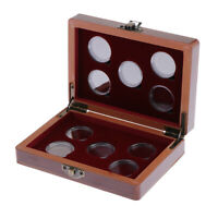 Coin Storage Box - Solid Wood Coin Display Box For 10 Pieces Of Coins / Medals