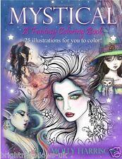 Fantasy Mystical Fairies Mermaids Dragons Owls Adult Colouring Book Creative