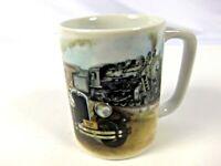 Otagiri Sunrise Coffee Tea Cup Mug Car and Train Designs