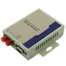 Industrial Bidirectional RS232 Optical MODEM Serial to Fiber Converter DB9 SM FC