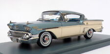 Neo 1/43 Scale Model Car 44850 - 1959 Chevrolet Bel Air HT Coupe Met Blue/White