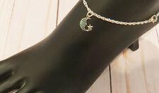 Bracelet Summer Vacation Silver Plate Smiling Half Moon Crescent Anklet Anklet