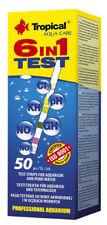 Tropical 6- in - 1 Test (0,27 €/Streifen) 50 Teststreifen für Aquarien Teich