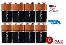 (8-Pack) Duracell 9v battery ULTRA power Coppertop Alkaline MN1604