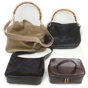 Gucci Suede Leather Shoulder Bag Hand Bag Vanity Bag 4pc set 519636