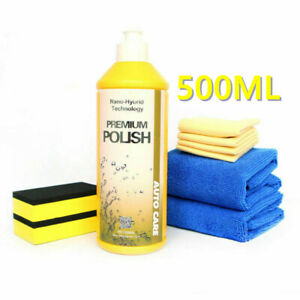 9H 500ML Car Polishing Wax Paste Kit Nano Ceramic Car Glass Coating Hydrophobic