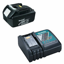 MAKITA 18V LXT LITHIUM ION BL1830 GENUINE BATTERY 3.0AH AND DC18RC CHARGER