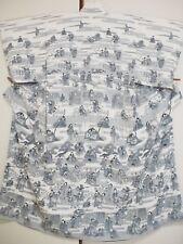 Vintage Japanese Silk Kimono Homongi, Kabuki, White K1128