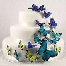Blue Butterfly Butterflies Wedding Cake Decorations