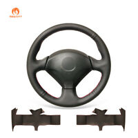 Black PU Leather Steering Wheel Cover for Honda S2000 Civic Si Acura RSX Type-S
