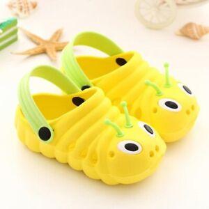 Toddler Kids Girls Boys Caterpillar Summer Beach Slippers Sandals Flip Croc Shoe