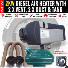 Planer 2KW Caravan Motor Home Diesel Heater with 2 x Vents, 2 x Duct And Tank