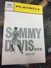 SAMMY DAVIS THATS ALL Playbill Forrest Theater 1966
