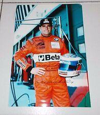 Fotografia autografo GIANNI MORBIDELLI Pilota 2000 EURO STC 20x30 Foto Formula 1