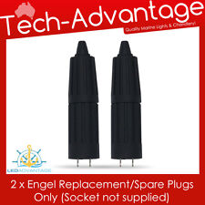 2 X 12V/24V MARINE/CARAVAN/BOAT ENGEL REPLACEMENT SPARE LOCKING PLUG ONLY