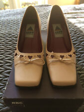 Aldo Ladies Baby Pink leather court shoes size UK 3.5 - EUR 36.5