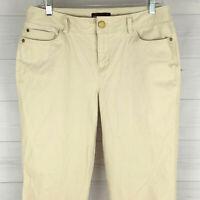 Dana Buchman Womens Size 10 Stretch Solid Beige Mid Rise Crop Soft Chino Pants