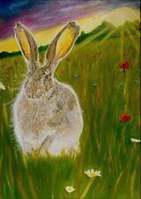 Jack (Marisa) Lauren modern landscape rabbit/hare nature animal art A4 print