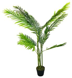 Two Artificial Palm Trees 125cm Realistic Foliage Home Hotel Lobby Events