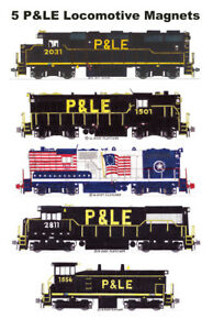 Pittsburgh & Lake Erie Locomotives set of 5 magnets Andy Fletcher