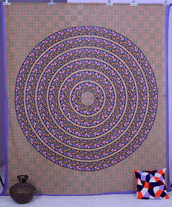 Indien Floral Mandala Queen Wall Hanging Tapestry Ethnic Art Bedding Bed Sheet
