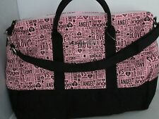 Victoria's Secret Love Angel Travel Tote Carry On Luggage Bag Large Pink Black