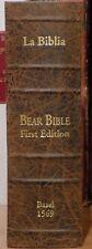 "1569 De Renia ""Bear Bible"" Facsimile - The First Bible Printed in Spanish"