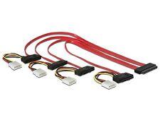 DELOCK cable sas 32 pin sff-8484 > 4 x sas 29 pin sff-8482 + Power 50 cm 83051