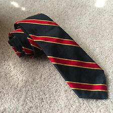NWT BROOKS BROTHERS Blue Red Gold Stripe Black Fleece Silk Tie $125 2.75 x 57