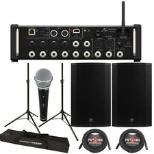 """Behringer XR16 Digital Mixer + Mackie Thump 15A 1300W 15"""" Powered Speakers"""