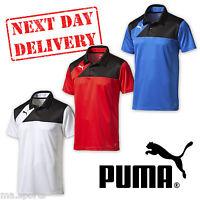 New Puma Esquadra Teamwear Mens Sports Polo Tee Poly T Shirt rrp £30 On Sale