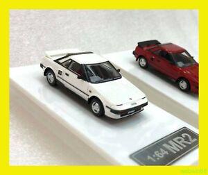 JUN 2021 TOYOTA MR2 AW11 Resin Model Car HH 1/64 white Hong Kong 300pcs Limited