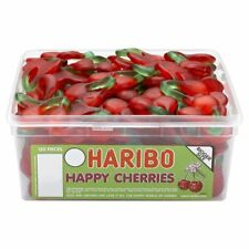 Haribo Happy Cherries Sweets - 120 in a Tub - Party bag filler wedding favour