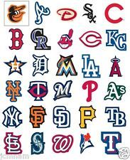 MLB BASEBALL LOGO STICKERS STICKER 30 TEAMS ~ LICENSED ~ MADE IN USA