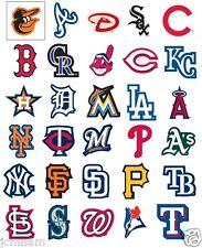 MLB BASEBALL LOGO STICKERS STICKER 30 TEAMS ~ LICENSED ~ MADE IN USA