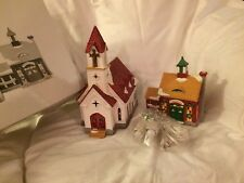Dept 56 Snow Village Good Shepard Chapel and Church School # 5424-0