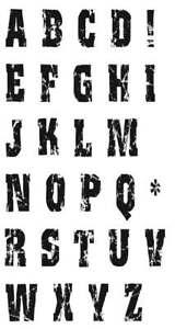 Distress Alphabet Clear Stamp Set
